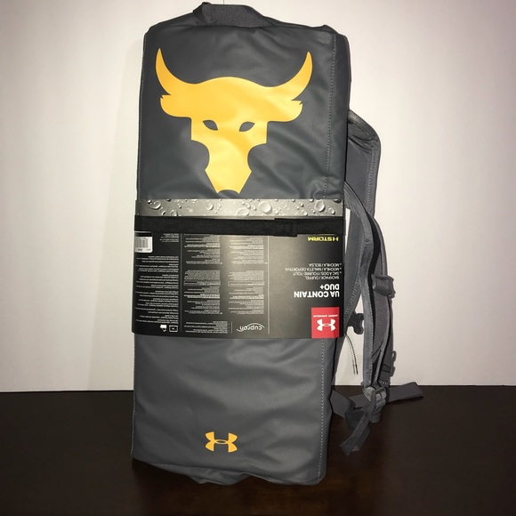 Project rock backpack and duffle under armour READ 57b767694bd6a